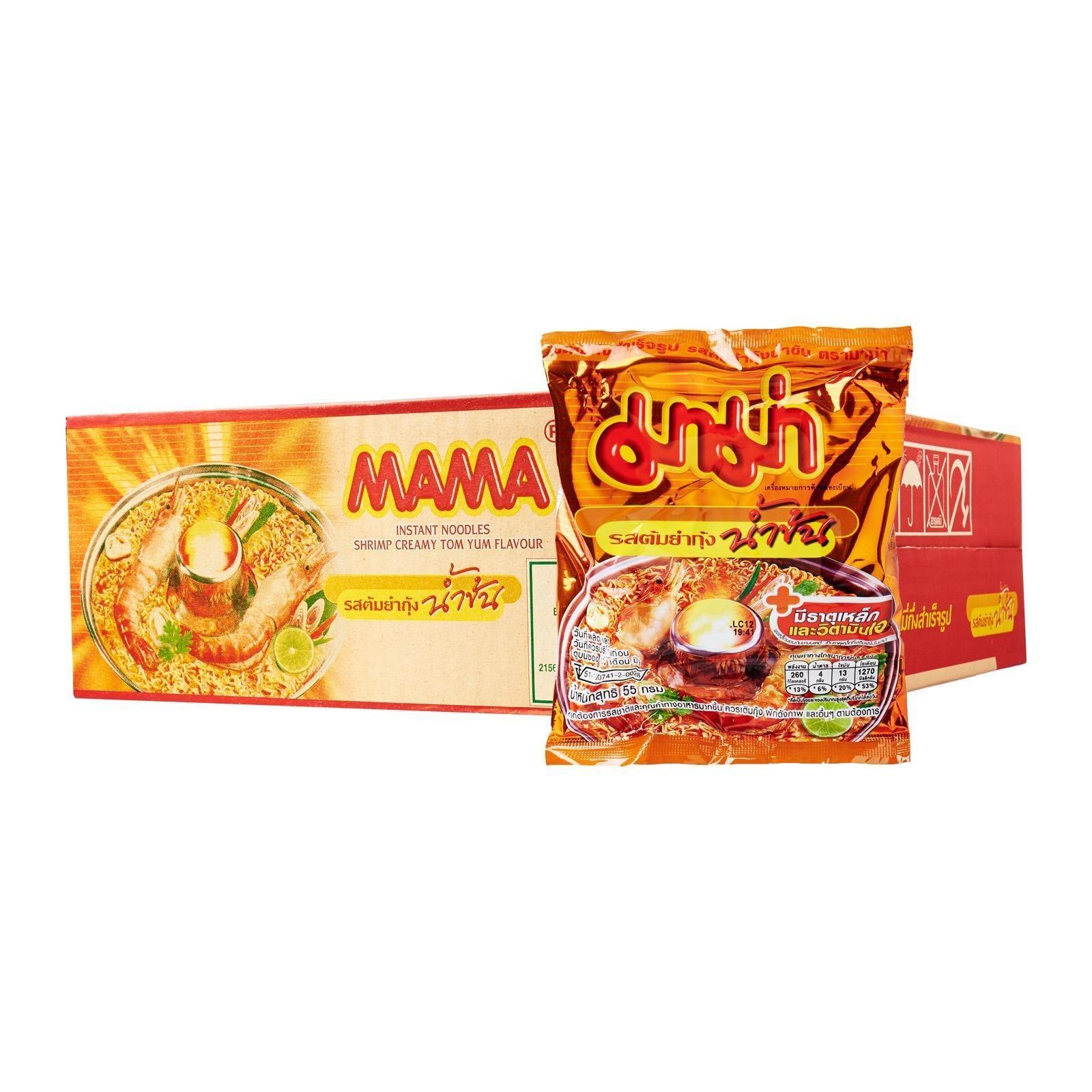 MAMA Tom Yum Creamy Shrimp Instant Noodles x 30 Packs