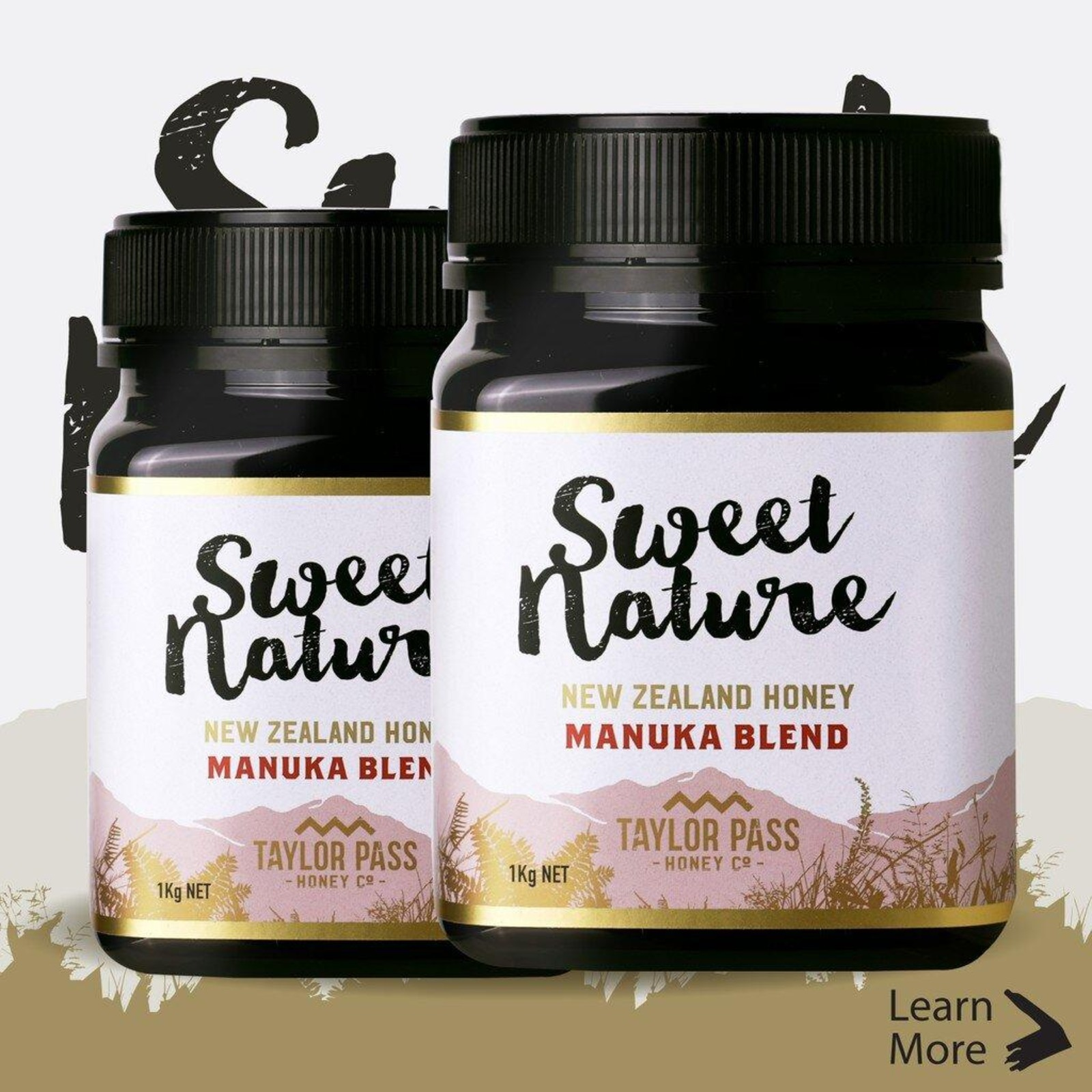 Sweet Nature Manuka Blend Honey 1kg (Bundle of 2)