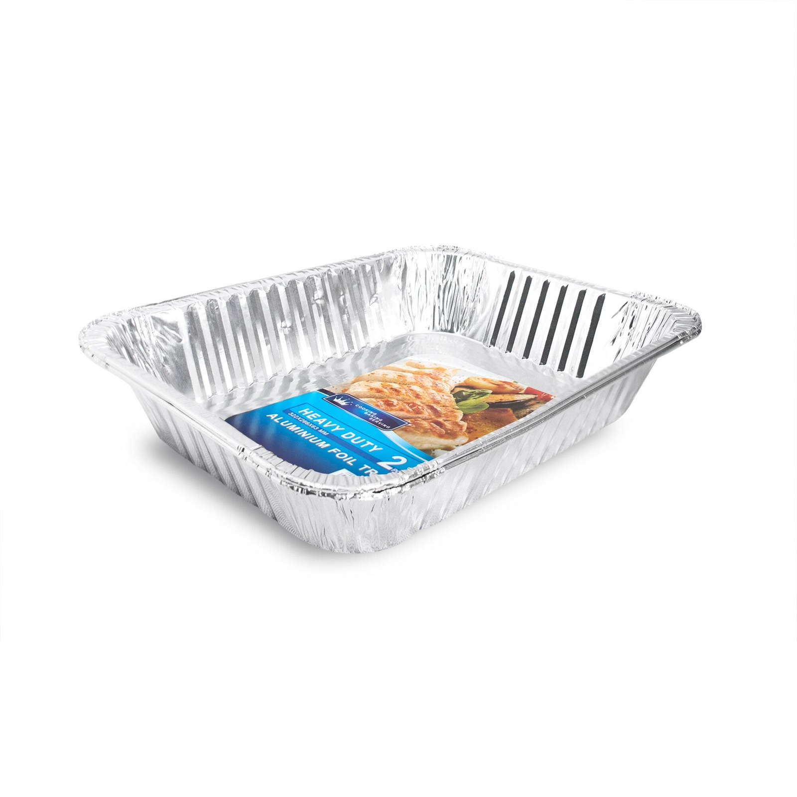HOUZE Medium Aluminium Foil Tray (Set of 2)