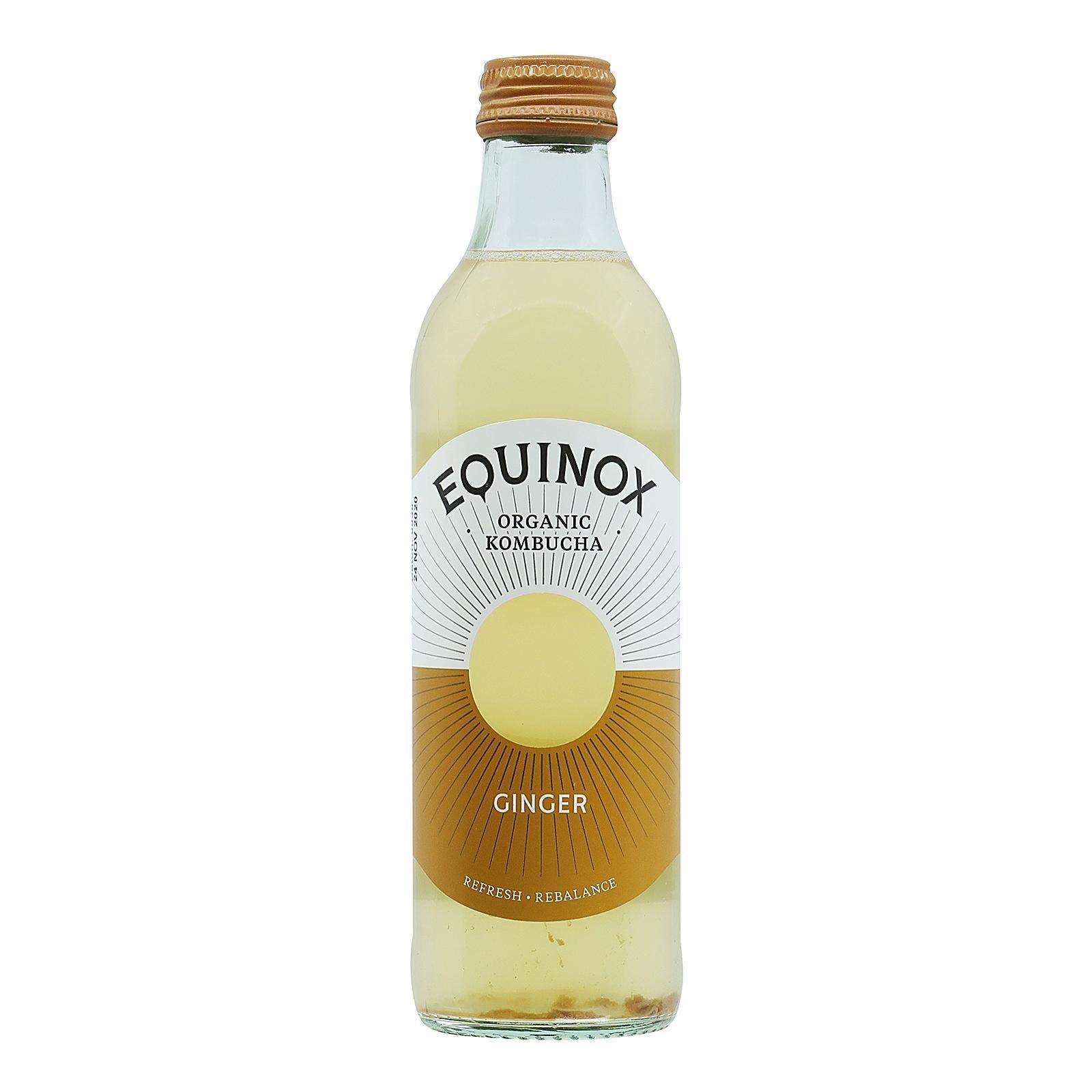 Equinox Organic Ginger Kombucha