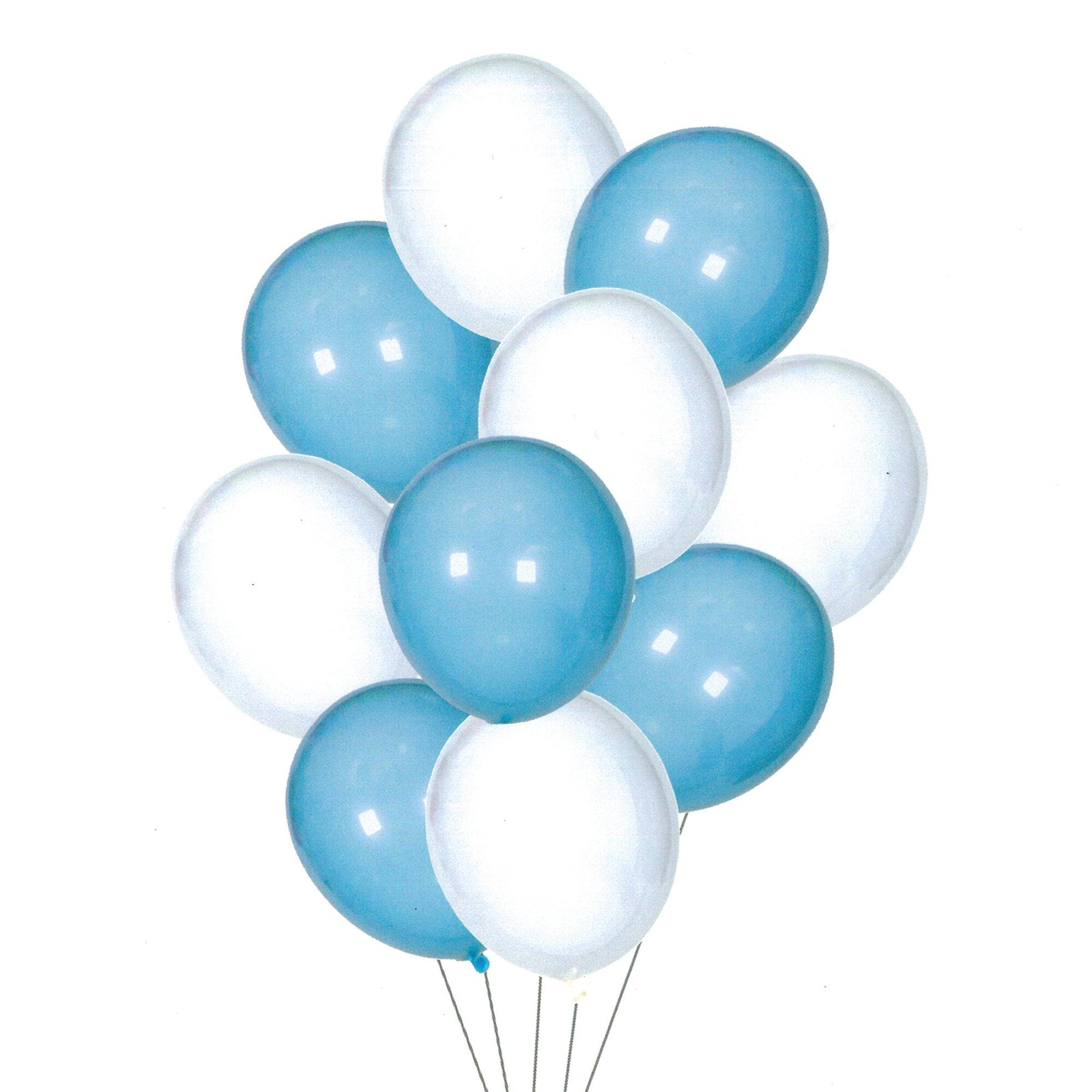 HOUZE Blue & White Balloons (Set of 10)