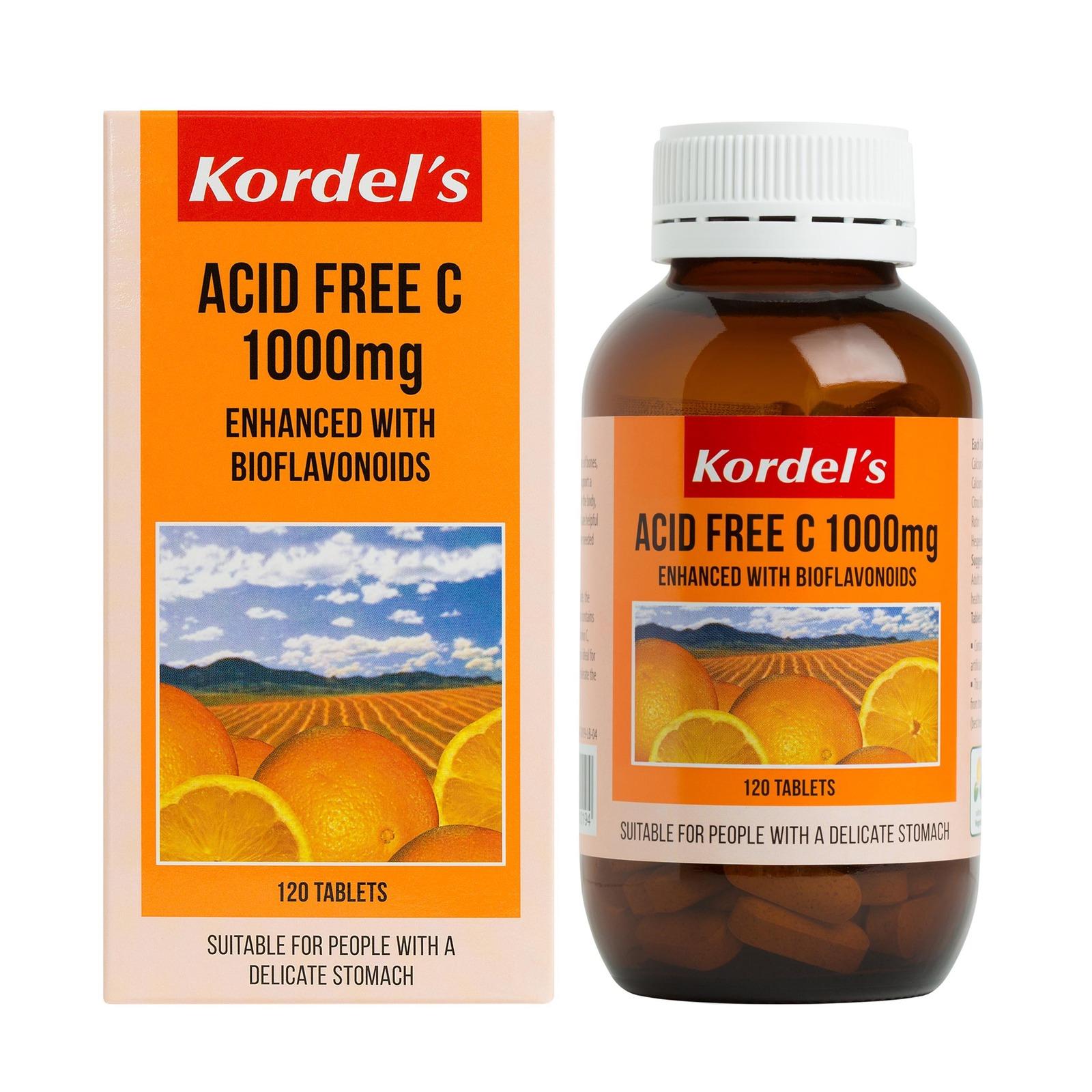 KORDEL'S ACID FREE C 1000 mg 120S