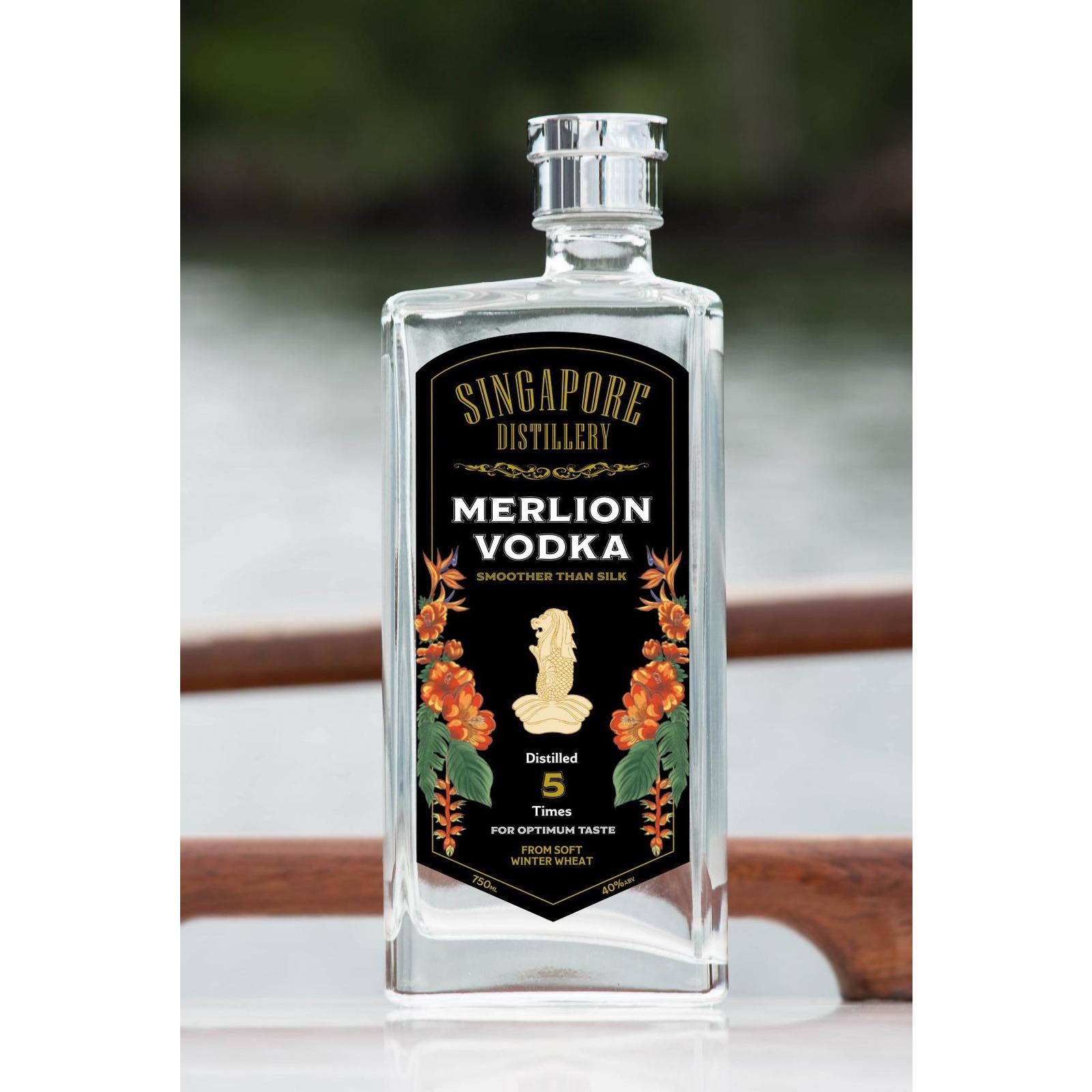 Singapore Distillery Merlion Vodka 750 ML - 40% Alc/Vol