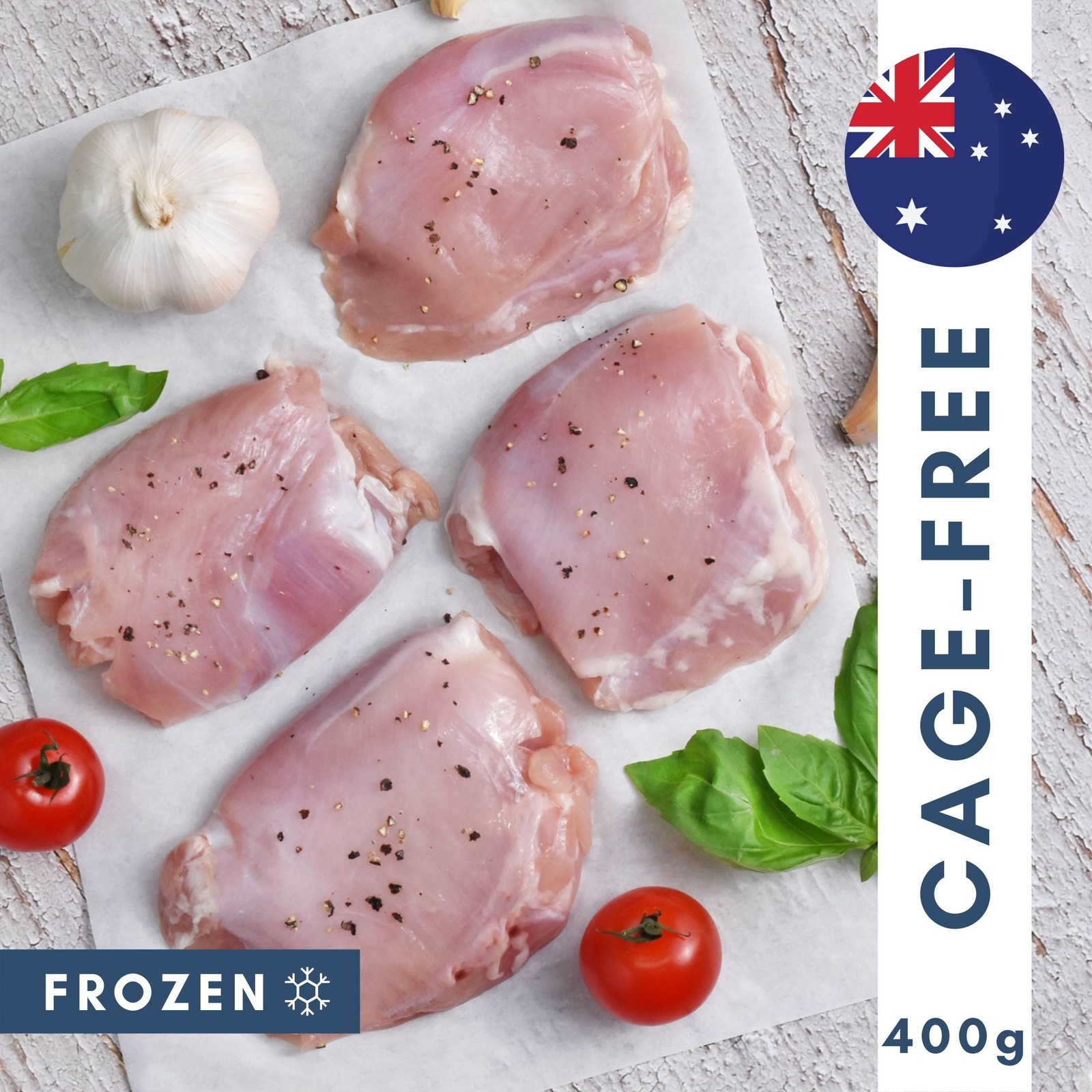The Meat Club Cage Free Chicken Thigh Fillets- Australia