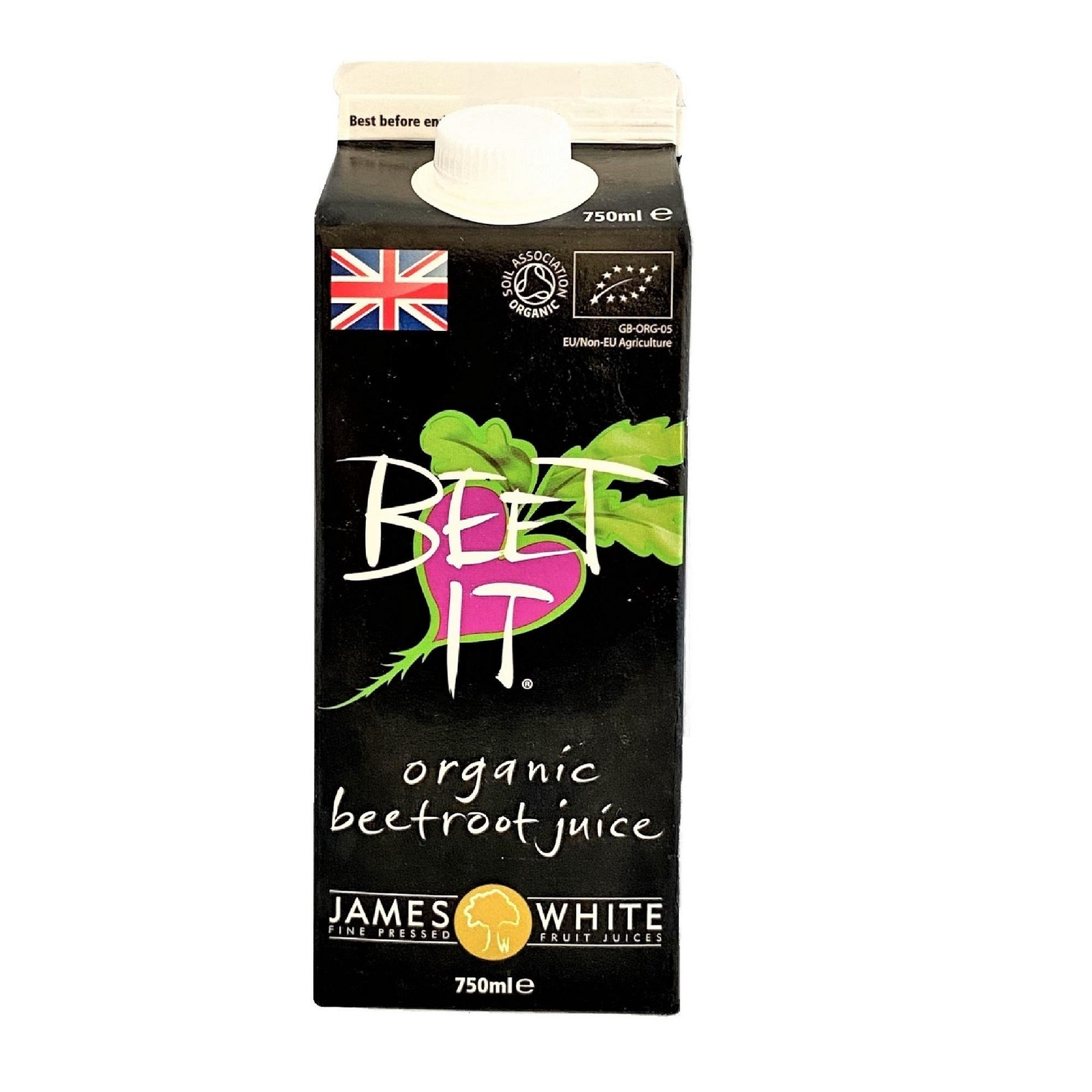 JAMES WHITE Beets IT Organic Beetroot Juice (Tetra)