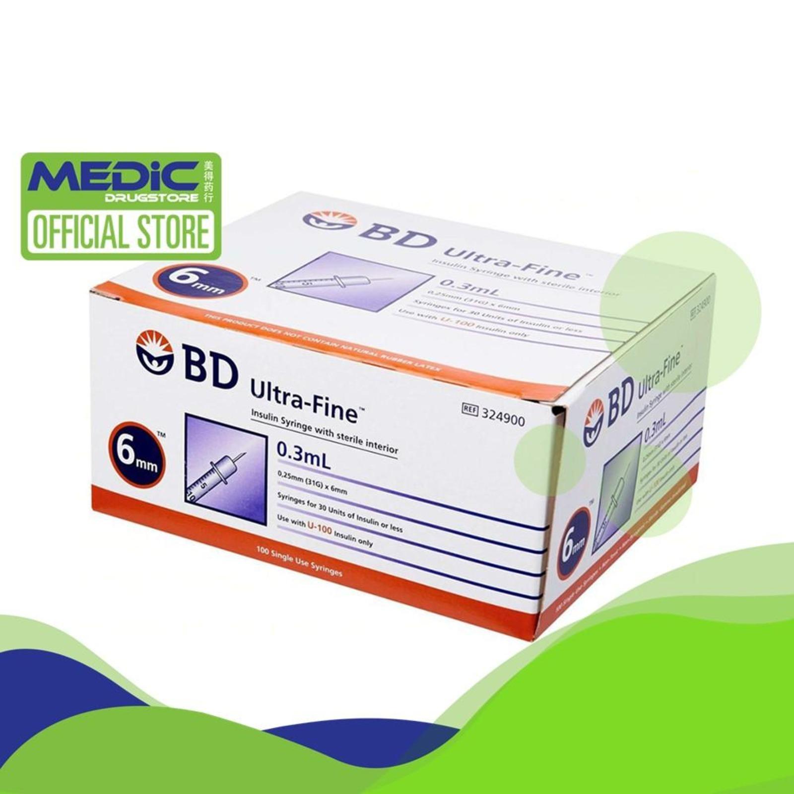 BD Ultra-Fine Insulin Syringe 0.3mL 0.25mm (31G) x 6mm