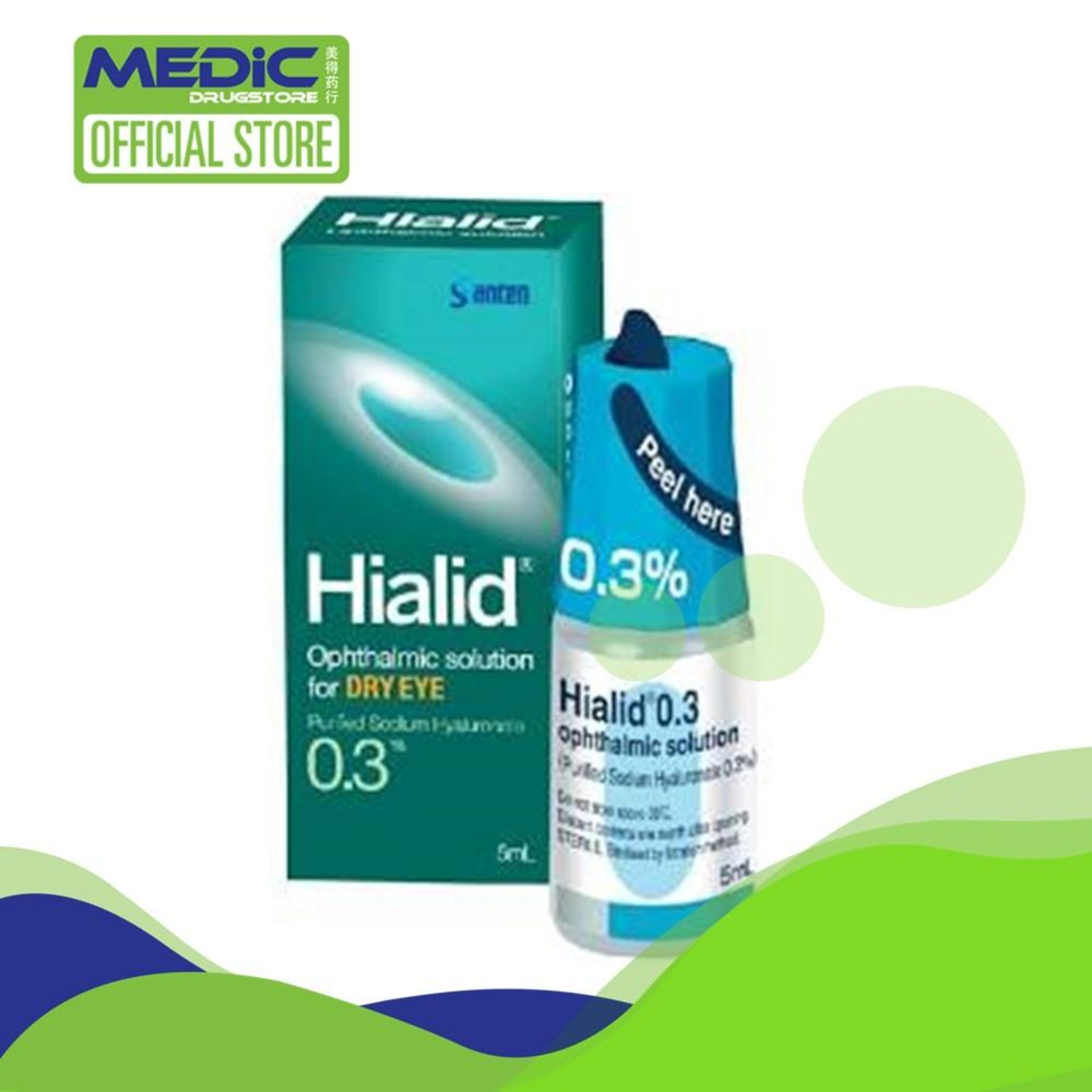 Santen Hialid 0.3 Ophthalmic Solution Eye Drop 5ml