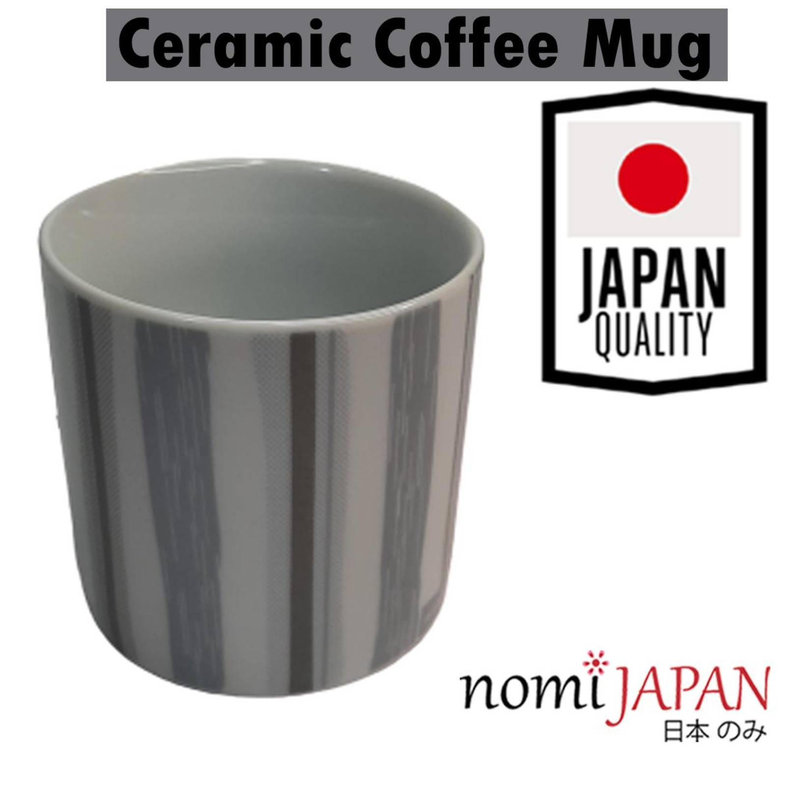 Nomi Japan Ceramic Coffee Mug With Grey Printed Lines Ntuc Fairprice