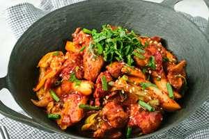 Dak-galbi (Korean Spicy Stir-fried Chicken)