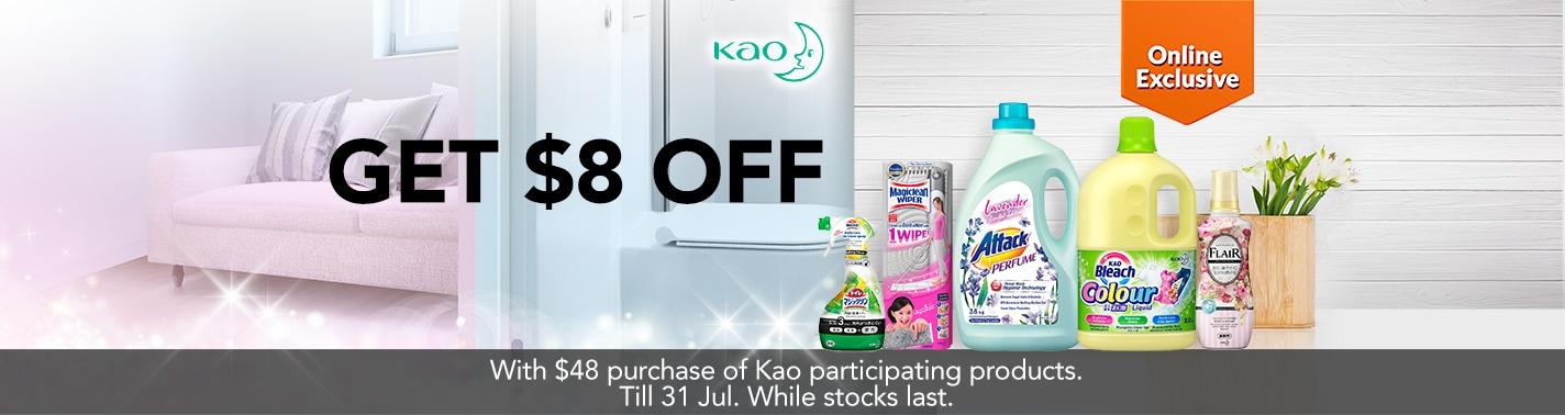 FairPrice KAO promo S$8 off