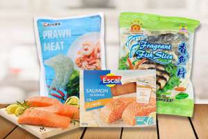 Frozen fish & other seafood