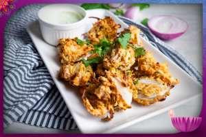 Air-Fryer Onion Pakora