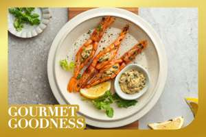Roasted Prawns with Seaweed Butter