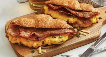 Cheesy Breakfast Croissant with Perfect Italiano Perfect Bakes Cheese