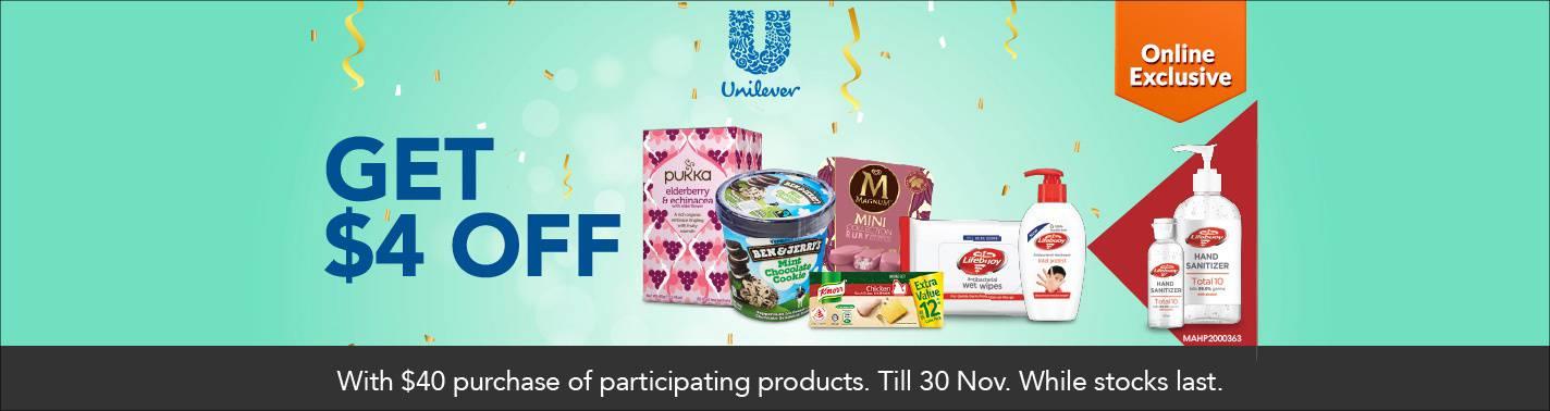 FairPrice On S$4 off Unilever
