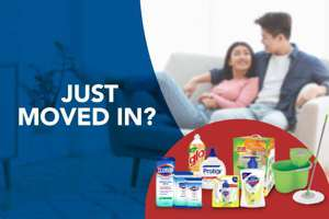 Cleaning supplies for new homes