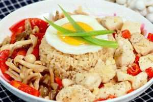 Chicken Capsicum Rice Bowl