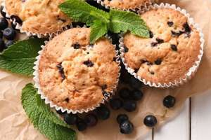 Blueberry Muffins with Organic Millet Quinoa Oatmeal