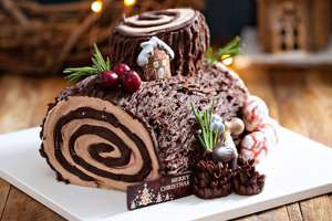 Chocolate Christmas Log Cake